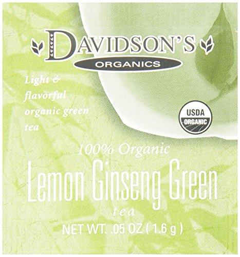 Davidson's Tea Single Serve Lemon Ginseng Green, 100-Count Tea Bags