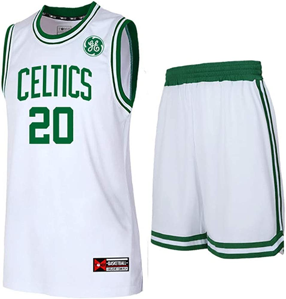 FNBA Celtics Herren Trikot -   0 Jayson Tatum   7 Jaylen braun   20 Gordon Hayward   34 Peirce Mesh Basketball Swingman Trikot, Kostüm Sportbekleidung Herrenbekleidung-Weiß-3-3XL