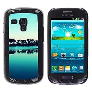 LECELL -- Funda protectora / Cubierta / Piel For Samsung Galaxy S3 MINI NOT REGULAR! I8190 I8190N -- Nature Beautiful Forrest Green 176 --