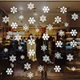 228Pcs Christmas Snowflake Window Sticker DIY Removable White Snowflakes Winter Clings Window Glass Sticker Wall Decal Christmas Decorations for Xmas/Holiday/Winter/Party/Christmas Window Kids Room Ho