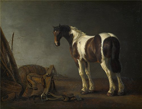 Perfect Effect Canvas ,the Replica Art DecorativePrints On Canvas Of Oil Painting 'Abraham Van Calraet A Horse With A Saddle Beside It ', 12 X 16 Inch / 30 X (Darling The Chick Costumes)