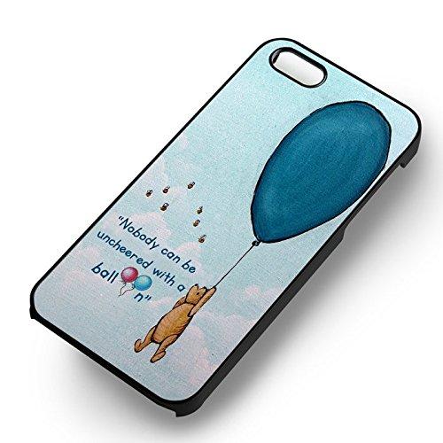 Unique Unique Winnie The Pooh Balloon Quote pour Coque Iphone 5 or Coque Iphone 5S or Coque Iphone 5SE Case (Noir Boîtier en plastique dur) J2L8RX