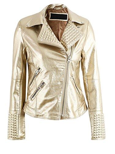 Gold Leather Jacket - 4