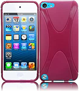 For Apple Ipod Touch 5 5th Generation X Shape TPU Cover Case Hot Pink