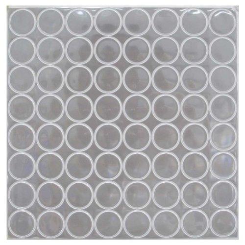 (Reflective Hot Dot, 1 Inch Diameter, 64ct Per Sheet (White))