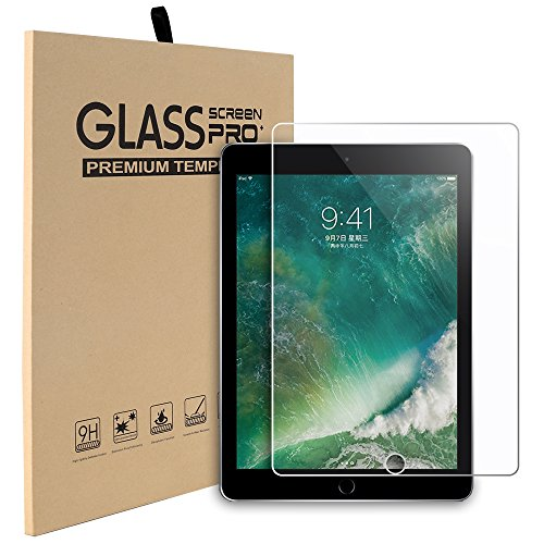 New iPad 9.7 (2017), iPad Air 1 2, Pro 9.7 Screen Protector, Abestbox 9H HD Premium Tempered Glass for iPad Air/Air2/Pro 9.7/New iPad 9.7 (2017), 99.9% Light Transmission