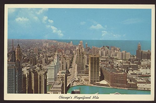 Chicago Skyline Lake Front Magnificent Mile AERIAL VIEW Illinois - Mile Stores The On Magnificent