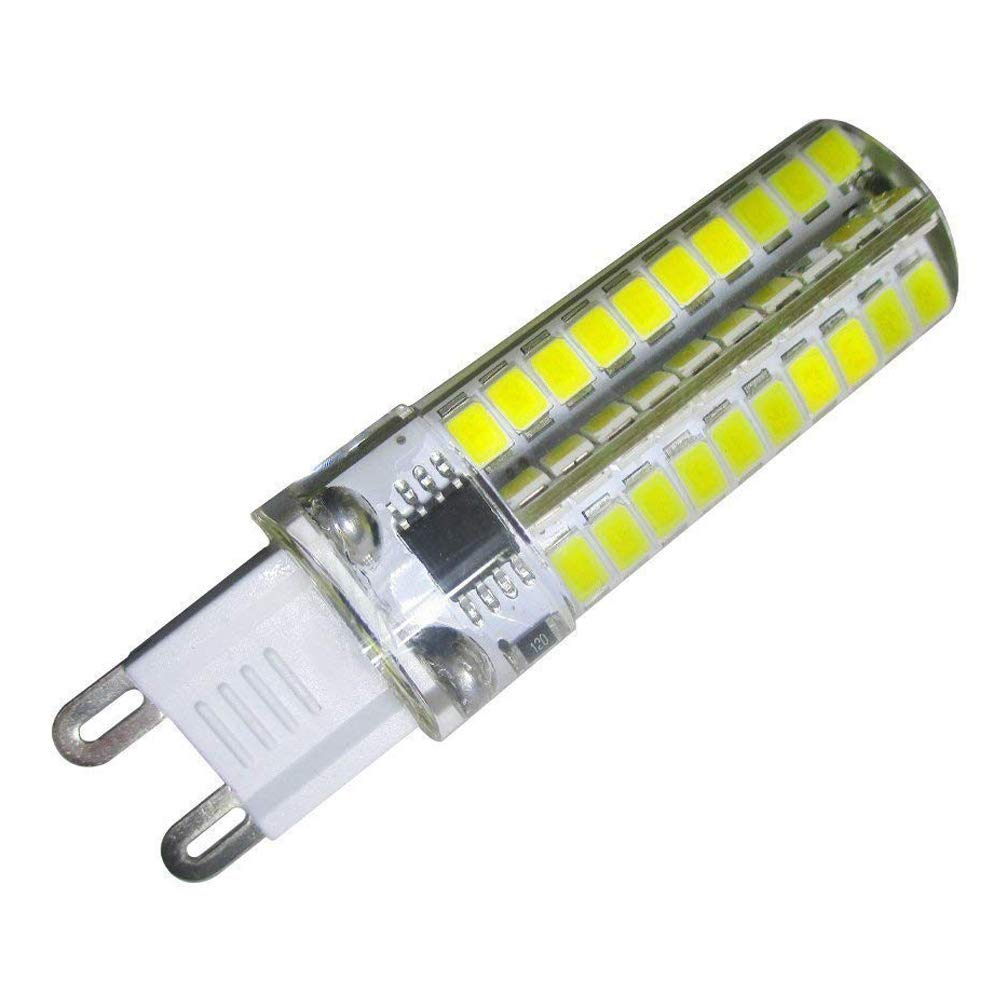 GLMING G9 80-2835 SMD High Power LED 4W Light Silicone Crystal SCR Dimmable Bulb AC 110V 120V 30watt Incandescent lamp Replacement Cool White Pack of 6