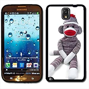 Case For iphone 6 4.7 Cover Black PC Silicone - Sock Monkey Doll Stuffed Doll Print