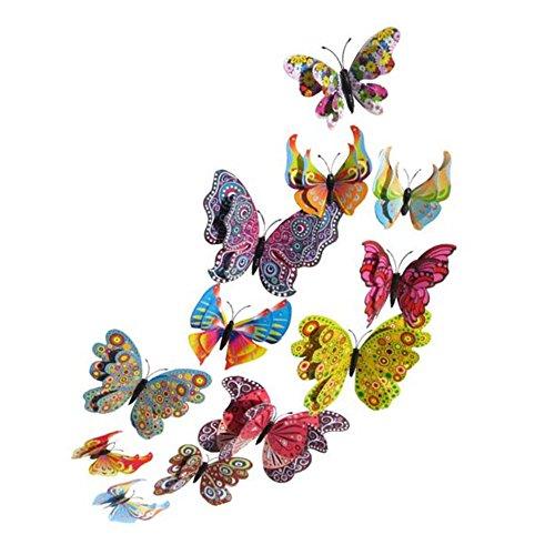 Koolemon Butterfly Refrigerator Stickers Decoration