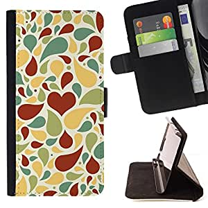 - Creative love pattern/ Personalized Design Custom Style PU Leather Case Wallet Flip Stand - Cao - For Samsung Galaxy J3