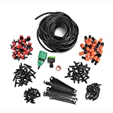 Dyna-Living Garden Irrigation System, 1/4'' Blank Distribution Tubing Watering Drip Kit/DIY Saving Water Automatic Irrigation Equipment Set for Garden Greenhouse, Flower Bed,Patio,Lawn