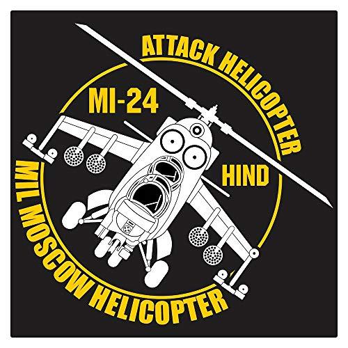 Mil Mi-24 Hind Attack Helicopter Die Cut ()