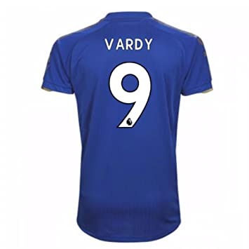 2017-18 Leicester City Home Football Soccer T-Shirt Camiseta (Jamie Vardy 9): Amazon.es: Deportes y aire libre