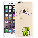 iPhone 6/6S Case,Blingy's Creative Design Funny Animal Transparent Flexible Clear Soft TPU Rubber Case for iPhone 6/6S (Alligator)