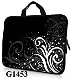 Laptop Sleeve 15.6-Inch Neoprene Case Bag with Hidden Handle Handbag for 14-Inch,15-Inch,15.6-Inch Notebook, Bags Central