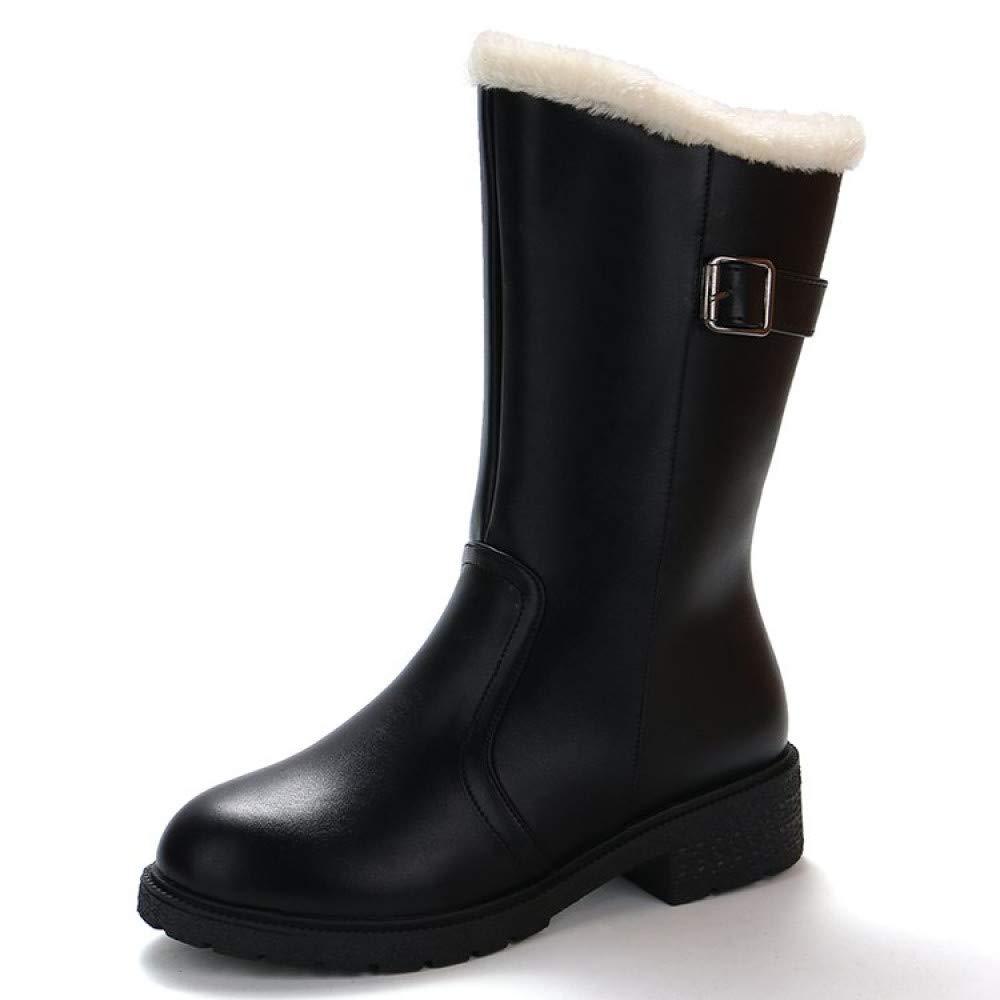 PINGXIANNV Winter Frauen Stiefel Schwarz Wasserdichte Stiefel Plattform Stiefel Wasserdichte Voll Frauen Super Warm Schnee Stiefel 02823d