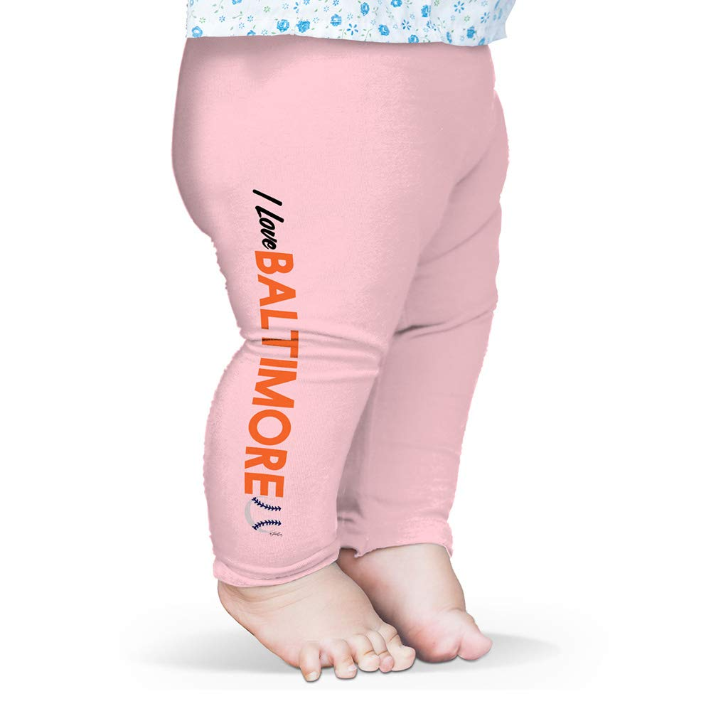 TWISTED ENVY Baby Leggings I Love Baltimore Baseball