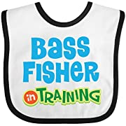 Inktastic - Bass fisher in training Baby Bib White/Black