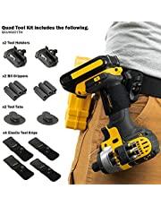 SPIDER Tool Holster Quad Tool Kit - 10 Piece Set for Carrying Tools and Organizing Drill Bits
