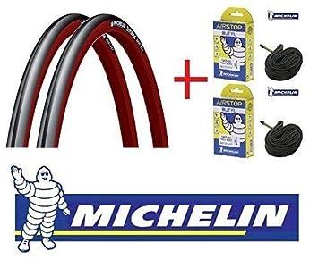 2 Neumáticos bici MICHELIN DYNAMIC 700X23 elegir color + 2 ...