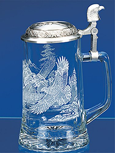 Glass Eagle Mug (James Meger German Glass Bald Eagle Beer Stein by GermanStein)