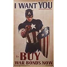 EFX Sports Efx Captain America Movie I Want You Poster
