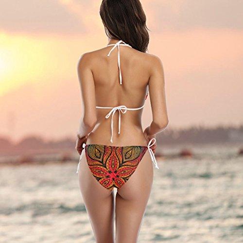 Floral De Vintage Bikini Maillot Pièces Deux Multicolore Femme Alaza Tribal Bain qIwP48Rt6
