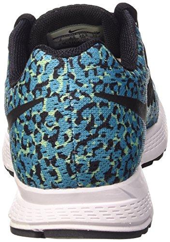 Nike WMNS Air Zoom Pegasus 32 Print, Women's Baby Shoes Bleue Lagoon/Noir-green Glow