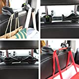 LivTee Car Back Seat Headrest Hooks, 2-Pack Car
