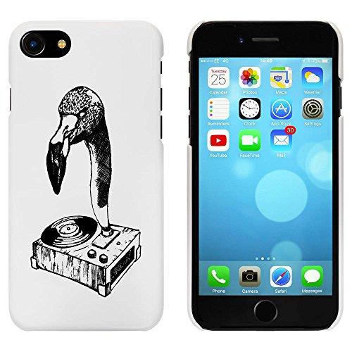 Blanc 'Joueur de Disques Flamant' étui / housse pour iPhone 7 (MC00061072)