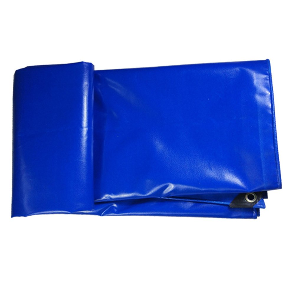 Tarpaulin Heavy Duty Blue Poly Tarp Cover - Thick Waterproof, UV Resistant, Rot, Rip And Tear Proof Tarpaulin With Grommets and Reinforced Edges 500g/m² -0.5mm (Size : 2mx2m)