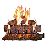 Peterson Real Fyre 18-inch Live Oak Log Set With Vented Burner and Gas Connection Kit. Match Lit...