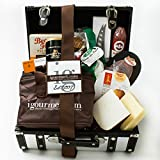 KaBloom Gift Basket Collection: The Platinum Foodie Gift Case of Gourmet Cheese, Sausage, Crackers, Chocolate, Nuts, Fruit and Cheese Knife