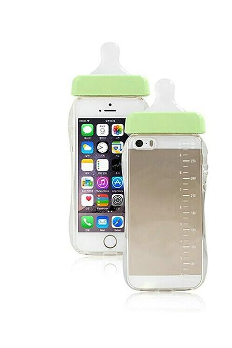 Demarkt Bonita Botella de Teléfono con Funda iPhone5 / 5S Transparente Funda para Teléfono Móvil Protectora