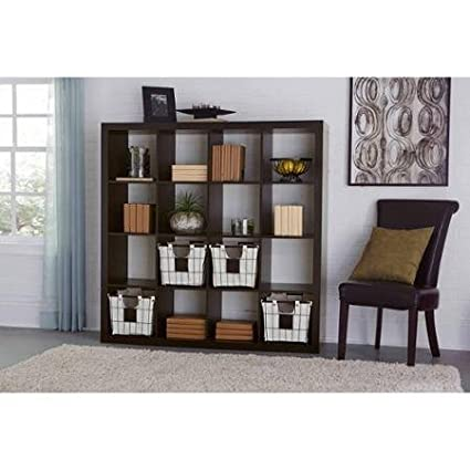 Versatile Better Homes And Gardens 16 Cube Storage Organizer, Espresso