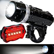 Bike Light Set Battery Light Safe Easy Mount LED Cycle Lights Cycling Front Light Rear Bicycle Light Waterproo