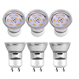 led 35 watt gu10 - Kindeep GU10 LED Bulbs, 30W Halogen Bulbs Equivalent, 3W, 220LM, 2700K Warm White, 120° Beam Angle, MR11 Non-Dimmable LED Light Bulb (6 Pack)