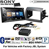 Sony XAV-W651BTN Double Din Radio Stereo Install Kit with Bluetooth, Pandora, iPhone Control, USB, AUX, Navigation Fits 2004-2010 Toyota Sienna with Amplified System