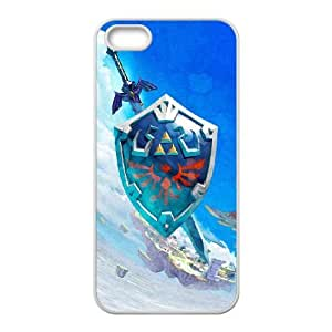 Personality customization TPU Case with The Legend of Zelda iPhone 5 5s Cell Phone Case White