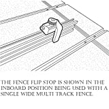 POWERTEC 71135 2-1/4-Inch Fence Flip Stop for