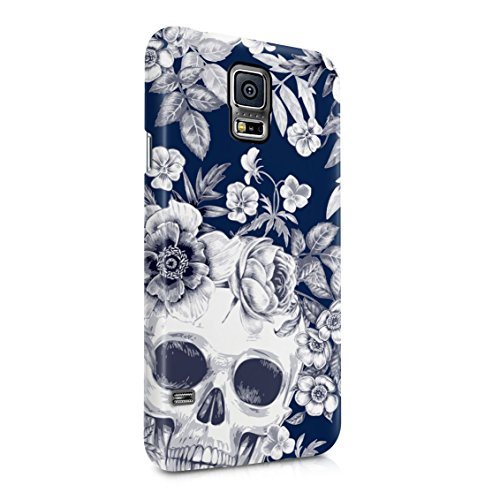 Tropical Floral Dead Pirate Skull Indie Hype Hipster Tumblr Plastic Phone Snap On Back Case Cover Shell for Samsung Galaxy S5