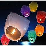 10 Sky Lanterns - White (10 Mix)