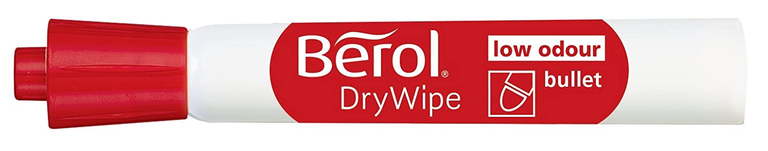 Berol Dry Wipe Bullet Tip Whiteboard Marker Assorted Colours Pack of 48