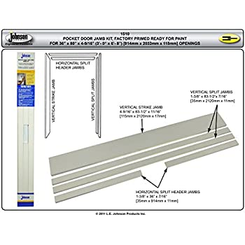 johnson hardware universal pocket door jamb kit 15103068 for painting - Door Frame Kit