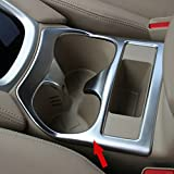 Beautost Matte Interior Console Cup Holder Cover Trim Fit For Nissan Rogue 2015 2016 2017