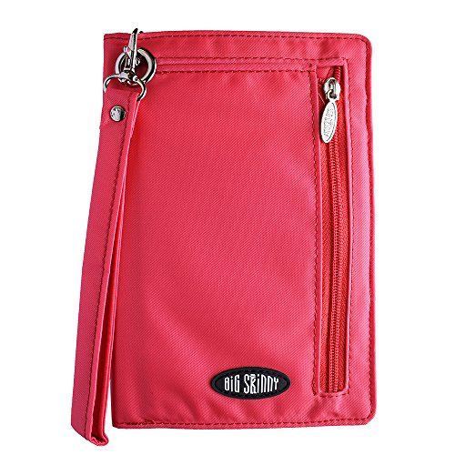Big Skinny Women's Plus Size myPhone Bi-Fold Slim Wallet, Holds Up to 20 Cards, Coral