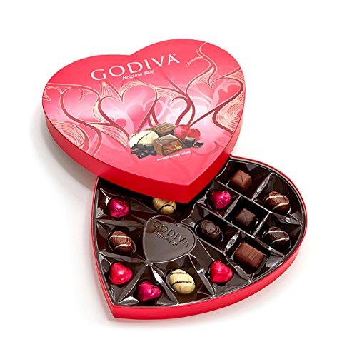 Godiva Chocolatier Assorted Chocolate Valentine's Day Heart 20 Piece Gift Box