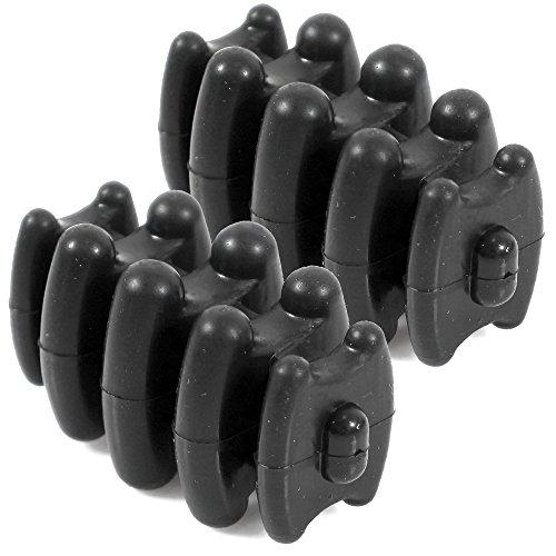 LIVABIT 2x Compound Bow Limb Damper Dampener Stabilizer Silencers for Upper Lower Limbs ()