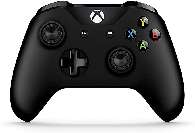 Microsoft Official Xbox Black Controller: Amazon.co.uk: PC & Video Games